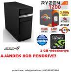 Asztali PC: AMD Ryzen 1200  4 magos CPU+ Nvidia GT 730 2GB+4GB DDR4 RAM+1TB HDD