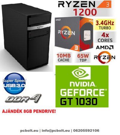 Gamer PC: AMD Ryzen 1200  4 magos CPU+ Nvidia GT 1030 2GB VGA+4GB DDR4 RAM