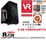 Gamer PC:AMD Ryzen 1200  4 magos CPU+ AMD Radeon RX 550 2GB DDR5 VGA+4GB DDR4 RAM