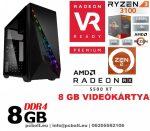 Gamer PC:AMD Ryzen 1200  4 magos CPU+ AMD Radeon RX 550 2GB DDR5 VGA+4GB DDR4 RAM