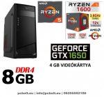 Gamer PC:AMD Ryzen 1200  4 magos CPU+ Nvidia GTX 1650 4GB VGA+8GB DDR4 RAM