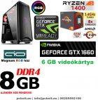Gamer PC: AMD Ryzen  4 magos CPU+ Nvidia GTX 1660 6GB VGA+8GB DDR4 RAM