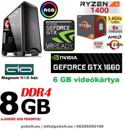 Gamer PC: AMD Ryzen 1200  4 magos CPU+ Nvidia GTX 1060 3GB VGA+4GB DDR4 RAM