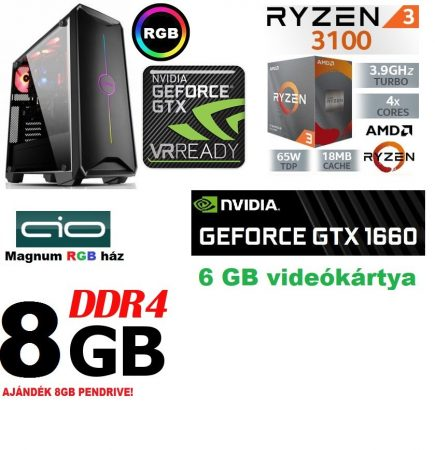 Gamer PC: AMD Ryzen 1200  4 magos CPU+ Nvidia GTX 1060 3GB VGA+4GB DDR4 RAM