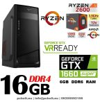 Gamer PC: AMD Ryzen 6 magos CPU+NVIDIA GTX1660 Super 6 GB VGA+16GB DDR4 RAM
