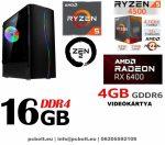 Gamer PC:AMD Ryzen 1200  4 magos CPU+ Nvidia GT 1030 2GB VGA+4GB DDR4 RAM