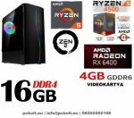 Gamer PC:AMD Ryzen 1200  4 magos CPU+ Nvidia GT 1030 2GB VGA+4GB DDR4 RAM