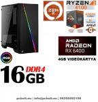 Gamer PC:AMD Ryzen 1300X  3.7 Ghz 4 magos CPU+ Nvidia GTX 1050Ti 4GB VGA+ 8GB DDR4 RAM