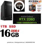 Gamer PC: AMD Ryzen 6 magos CPU+ Nvidia GTX 1660 6GB VGA+ 8GB DDR4 RAM