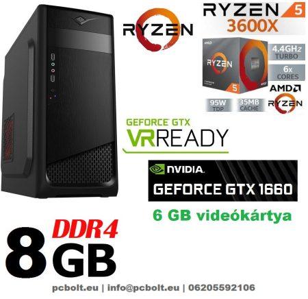 Gamer PC: AMD Ryzen 1300X  3.7 Ghz 4 magos CPU+ Nvidia GTX 1060 6GB VGA+ 8GB DDR4 RAM