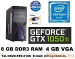 Gamer PC Intel Pentium 3.5Ghz CPU+GTX 1050Ti 4GB VGA+8GB DDR3 RAM
