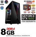 Gamer PC: AMD Ryzen 1300X  3.7 Ghz 4 magos CPU+ Nvidia GTX 1050Ti 4GB VGA+ 8GB DDR4 RAM