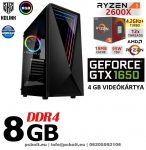Gamer PC: AMD Ryzen 6 magos CPU+ Nvidia GTX 1650 4GB VGA+ 8GB DDR4 RAM