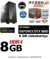 Gamer PC:AMD Ryzen 1300X  3.7 Ghz 4 magos CPU+ Nvidia GTX 1070 8GB VGA+ 8GB DDR4 RAM