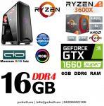 Gamer PC: AMD Ryzen 3600X  6 magos CPU+ Nvidia GTX 1660 Super  6GB VGA+ 16GB DDR4 RAM