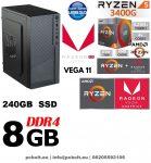 Premium PC: AMD Ryzen 1300X  3.7 Ghz 4 magos CPU+ 240 GB SSD+8GB DDR4 RAM+Nvidia GT 710 1 GB VGA