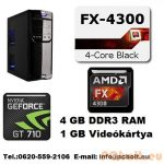 Gamer PC: AMD X4  3,1GHz 4 magos CPU+4GB RAM+Nvidia GT 710 1GB VGA
