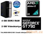 Gamer PC: AMD X4 3.1 Ghz 4 magos CPU+4GB RAM+Nvidia GT 730 2GB VGA