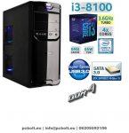 Asztali PC: Intel Core i3 4 magos CPU+4GB DDR4 RAM+1TB HDD