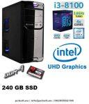 Asztali PC: Intel Core i3 4 magos CPU+120GB SSD+4GB DDR4 RAM