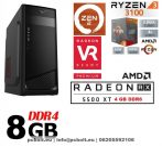 Gamer PC: AMD Ryzen 4 magos CPU+AMD Radeon RX 5500XT 4GB VGA+8GB DDR4 RAM