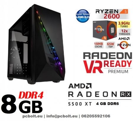 Gamer PC: AMD A6 3.5 Ghz 2magos CPU + AMD Radeon RX 550 2GB DDR5 VGA + 4GB DDR4 RAM
