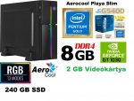 Vékony GAMER PC: Intel Pentium Gold CPU+8GB DDR4 RAM+240GB SSD+ GT  1030 2GB VGA