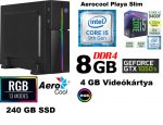 Vékony GAMER PC: Intel Core i5 6 magosCPU+8GB DDR4 RAM+240GB SSD+ GTX 1050 Ti 4GB VGA