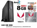 Vékony kezdő GAMER PC: AMD Ryzen5 2400G 4 magos CPU+8GB DDR4 RAM+240GB SSD