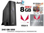 Vékony kezdő GAMER PC: AMD Ryzen5 2400G 4 magos CPU+8GB DDR4 RAM+240GB SSD