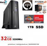 Vékony GAMER PC: AMD Ryzen5   4 magos CPU+8GB DDR4 RAM+240GB SSD+ GTX 1050Ti 4GB   VGA