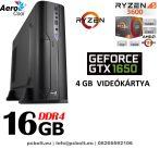 Vékony GAMER PC: AMD Ryzen5   6 magos CPU+ 8GB DDR4 RAM+240GB SSD+ GTX 1050 Ti 4GB  VGA