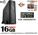 Vékony GAMER PC: AMD Ryzen 5   6 magos CPU+ 16GB DDR4 RAM+240GB SSD+ GTX 1650 4GB  VGA