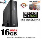 Vékony GAMER PC: AMD Ryzen7   8 magos CPU+ 16GB DDR4 RAM+240GB SSD+ GTX 1050 Ti 4GB  VGA