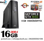 Vékony GAMER PC: AMD Ryzen7   8 magos CPU+ 16GB DDR4 RAM+240GB SSD+ GTX 1050 Ti 4GB  VGA