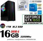 Gamer PC: Intel Core i5 6magos CPU 9. Generáció! + Nvidia GTX 1660 6GB VGA+ 8GB DDR4 RAM