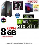 Gamer PC: Intel Core i7 8 magos CPU+ Nvidia RTX 2060 6GB VGA+ 8GB DDR4 RAM