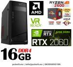 Gamer PC: AMD RYZEN 5 1400 CPU+Nvidia RTX 2060 6GB VGA+16GB DDR4 RAM