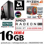 Gamer PC:AMD Ryzen 1500X  3.7 Ghz 4 magos CPU+ Nvidia RTX 2060 6GB VGA+ 8GB DDR4 RAM