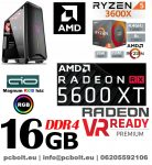Gamer PC:AMD Ryzen 1500X  3.7 Ghz 4 magos CPU+Nvidia RTX 2060  6GB VGA+ 16GB DDR4 RAM+240GB SSD