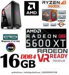 Gamer PC: AMD Ryzen 3600X 6 magos CPU+AMD Radeon RX 5600XT 6GB VGA+ 16GB DDR4 RAM