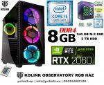Gamer PC: Intel Core i5 6 magos CPU 9. Generáció!+ Nvidia RTX 2060 6GB VGA+8GB DDR4 RAM