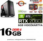 Fatal1ty Gamer PC: AMD Ryzen 2600  6 magos CPU+ Nvidia RTX 2060 6GB VGA+16GB DDR4 RAM+240GB SSD