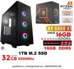 Gamer PC: AMD Ryzen 2600  6 magos CPU+ Nvidia RTX 2060 6GB VGA+16GB DDR4 RAM+240GB SSD