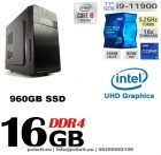 Prémium Office PC Intel Core i9 8 magos CPU + 480 GB SSD+16GB DDR4 RAM