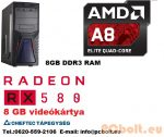 Gamer PC: AMD  4magos  max. 3.8Ghz CPU+AMD Radeon RX 480 4GB DDR5 VGA+8GB DDR3 RAM
