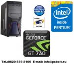 Gamer PC: Intel Pentium 3.3Ghz 2magos CPU+AMD R7 250 2GB vga+4GB DDR3 RAM