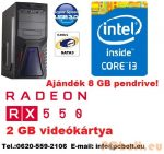 Gamer PC: Intel Core i3 3.6Ghz CPU + AMD Radeon RX 550 2GB DDR5 VGA + 4GB DDR3 RAM