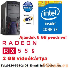 Gamer PC: Intel Core i3 3.6Ghz CPU + AMD Radeon RX 550 2GB DDR5 VGA + 4GB DDR3 RAM
