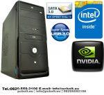 Office PC 3.3GHz Pentium Dual Core számítógép, 4GB DDR3 memória +Nvidia GT 710 1GB videókártya